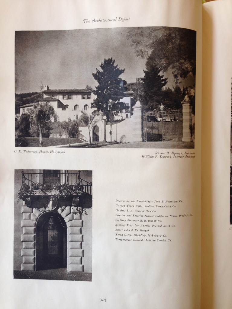 Images of 1847 Camino Palmero exterior in Architectural Digest